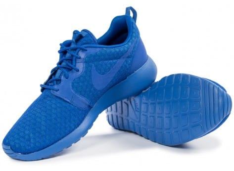 Chaussures Nike Roshe One Hyperfuse bleue vue intérieure