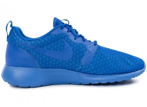 Chaussures Nike Roshe One Hyperfuse bleue vue dessous