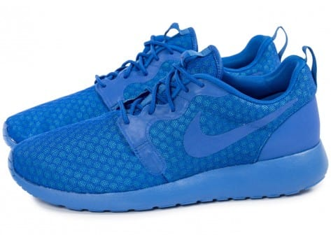Chaussures Nike Roshe One Hyperfuse bleue vue extérieure