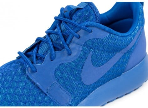 Chaussures Nike Roshe One Hyperfuse bleue vue dessus