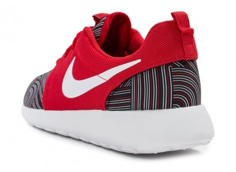 Chaussures Nike Roshe One Print rouge vue arrière