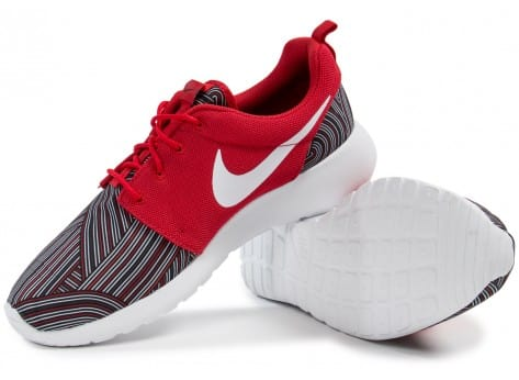 Chaussures Nike Roshe One Print rouge vue intérieure