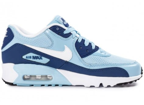 Chaussures Nike Air Max 90 Mesh Junior Light Blue vue dessous