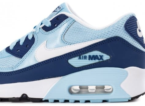 Chaussures Nike Air Max 90 Mesh Junior Light Blue vue dessus