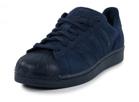 Chaussures adidas Superstar Suede Night Indigo vue avant