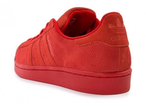 Chaussures adidas Superstar Suede rouge vue arrière