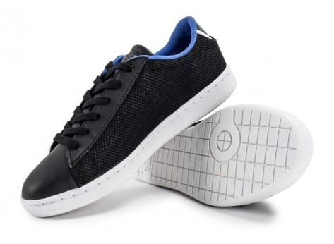 Chaussures Lacoste Carnaby Evo Nylon Junior noire vue avant