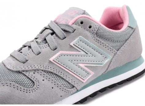 Chaussures New Balance WL373 GT Suede grise vue dessus