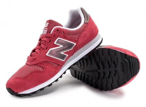 Chaussures New Balance WL373 SI Suede rose vue avant