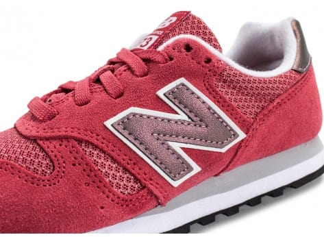 Chaussures New Balance WL373 SI Suede rose vue dessus