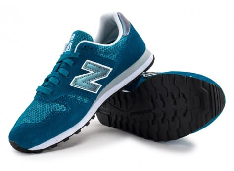 Chaussures New Balance WL373 GI Suede turquoise vue avant