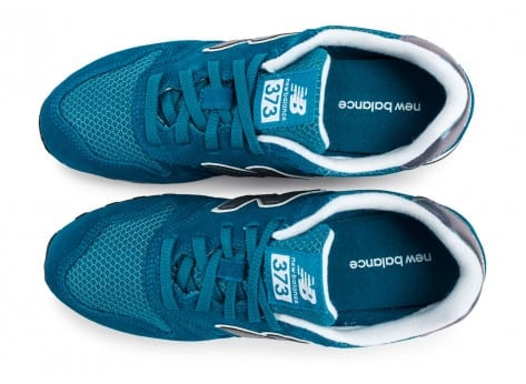 Chaussures New Balance WL373 GI Suede turquoise vue arrière