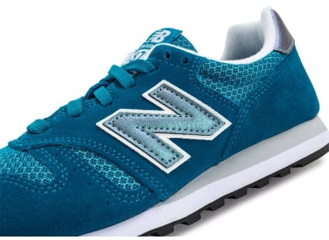 Chaussures New Balance WL373 GI Suede turquoise vue dessus