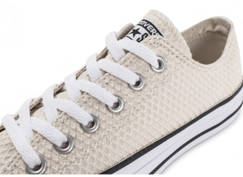Chaussures Converse Chuck Taylor All-Star Snake Woven OX beige vue dessus