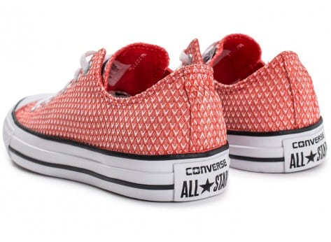 Chaussures Converse Chuck Taylor All-Star Snake Woven OX rouge vue dessous