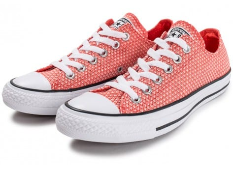 Chaussures Converse Chuck Taylor All-Star Snake Woven OX rouge vue intérieure