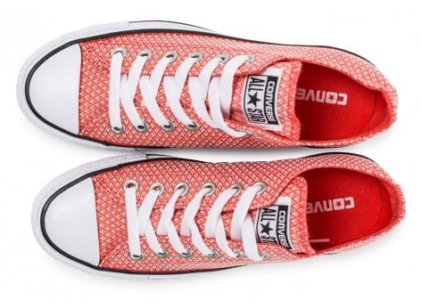 Chaussures Converse Chuck Taylor All-Star Snake Woven OX rouge vue arrière