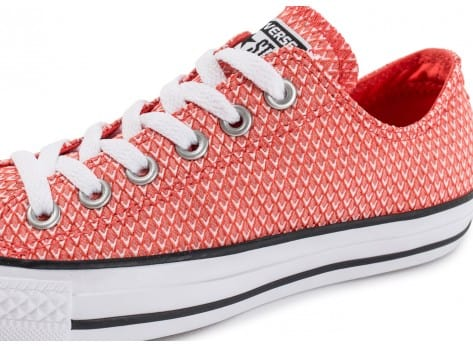 Chaussures Converse Chuck Taylor All-Star Snake Woven OX rouge vue dessus