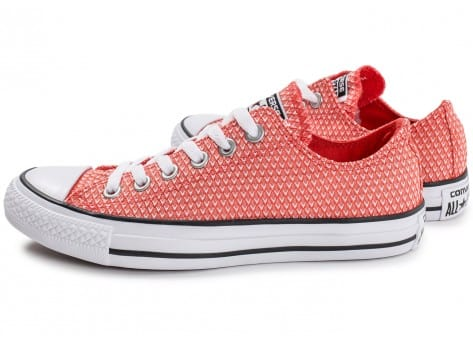 Chaussures Converse Chuck Taylor All-Star Snake Woven OX rouge vue extérieure