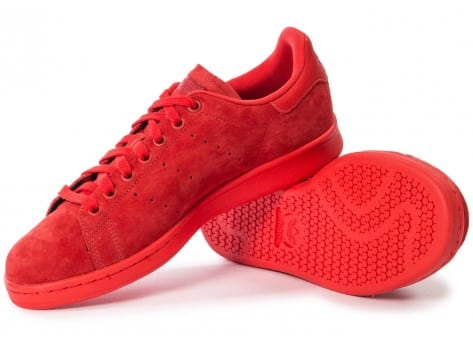 Chaussures adidas Stan Smith Suede monochrome rouge vue intérieure