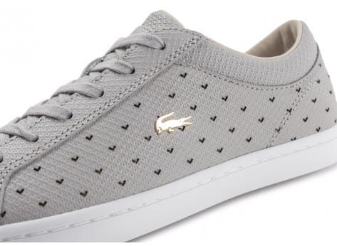 Chaussures Lacoste Straightset 117 grise vue dessus