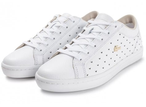 Chaussures Lacoste Straightset 117 blanche vue intérieure