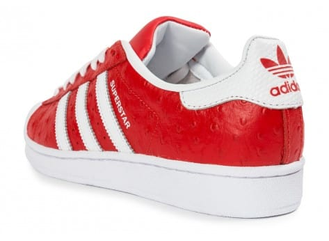 Chaussures adidas Superstar Animal rouge vue arrière