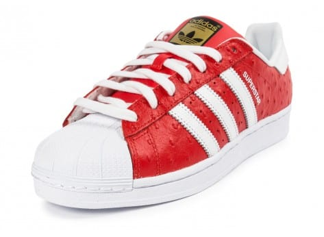 Chaussures adidas Superstar Animal rouge vue avant