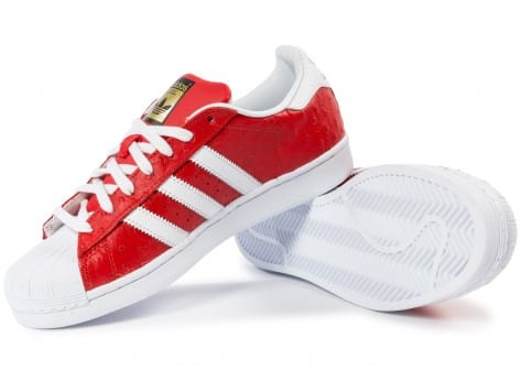 Chaussures adidas Superstar Animal rouge vue intérieure