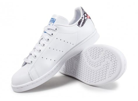 Chaussures adidas Stan Smith Patch Graphique blanche vue avant