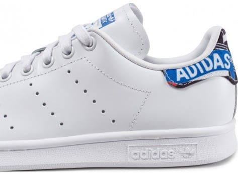 Chaussures adidas Stan Smith Patch Graphique blanche vue dessus