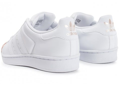 Chaussures adidas Superstar 80s Metal Toe blanche vue dessous