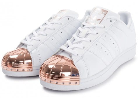 Chaussures adidas Superstar 80s Metal Toe blanche vue intérieure