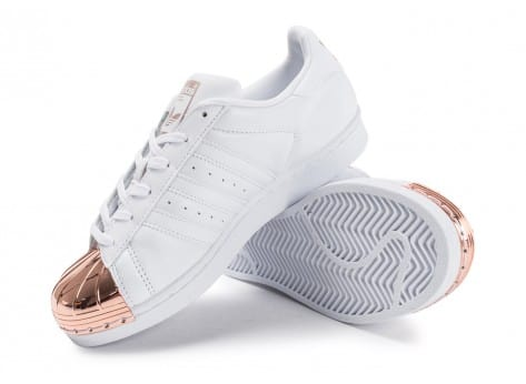 Chaussures adidas Superstar 80s Metal Toe blanche vue avant