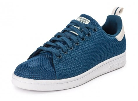 Chaussures adidas Stan Smith CK bleue vue avant