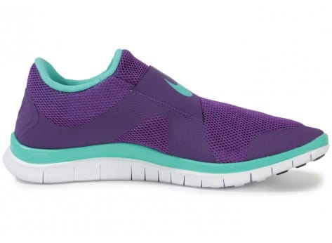 Chaussures Nike FREE SOCFLY COURT PURPLE vue dessous