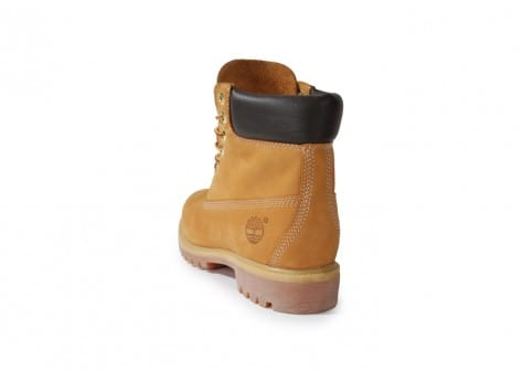 Chaussures Timberland 6-inch Premium Boot Beige vue arrière