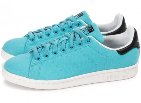 Chaussures adidas Stan Smith Blanch Sky BBQ vue extérieure
