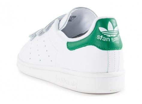 Chaussures adidas Stan Smith CF Velcro blanche vue arrière