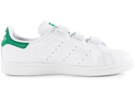 Chaussures adidas Stan Smith CF Velcro blanche vue dessous
