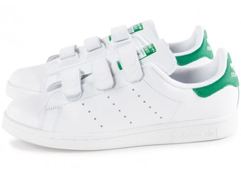 Chaussures adidas Stan Smith CF Velcro blanche vue extérieure