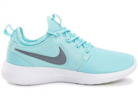 Chaussures Nike Roshe 2 W turquoise vue dessous