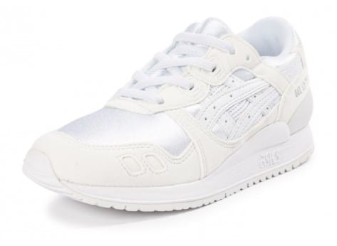 Chaussures Asics Gel Lyte III Enfant blanche vue avant
