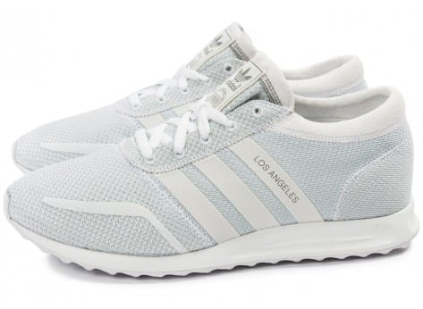 Chaussures adidas Los Angeles blanche vue extérieure