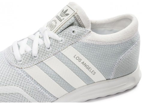 Chaussures adidas Los Angeles blanche vue dessus