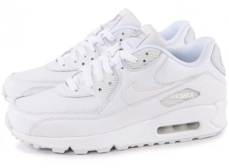 Chaussures Nike Air Max 90 Leather Blanche vue extérieure