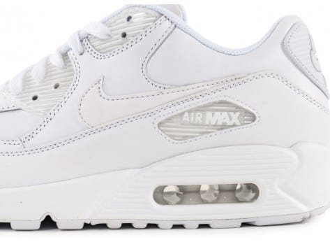Chaussures Nike Air Max 90 Leather Blanche vue dessus