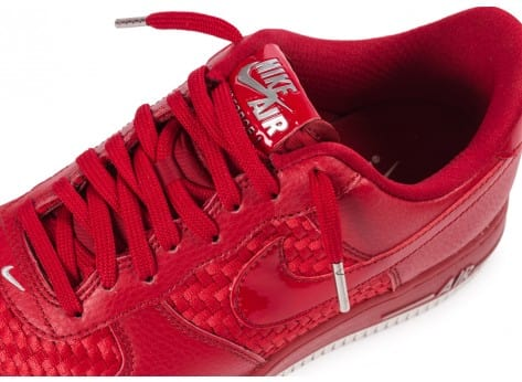 Chaussures Nike Air Force 1 LV8 Low rouge vue dessus