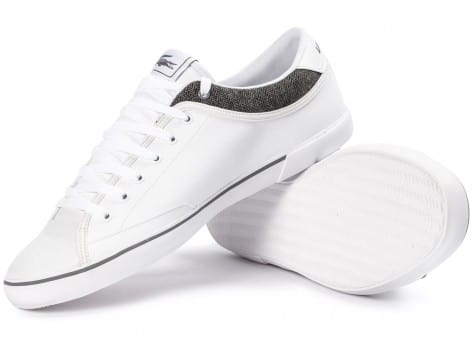 Chaussures Lacoste Angha Cuir Blanche vue arrière