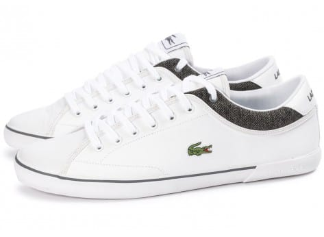 Chaussures Lacoste Angha Cuir Blanche vue avant
